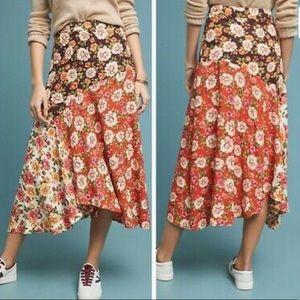 FARM for Anthropologie Midi Skirt